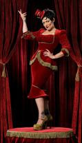 Miss Behave - Curtain dress