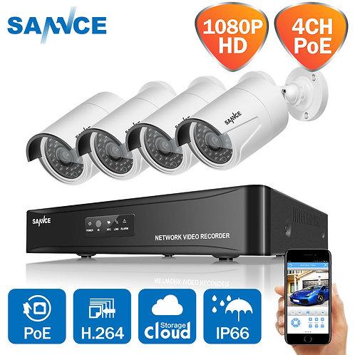 2mp, 4 Camera IP CCTV System