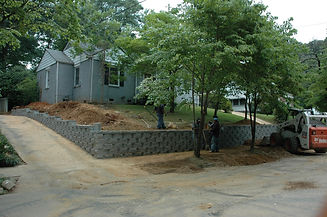 Retaining wall East Forrest.JPG