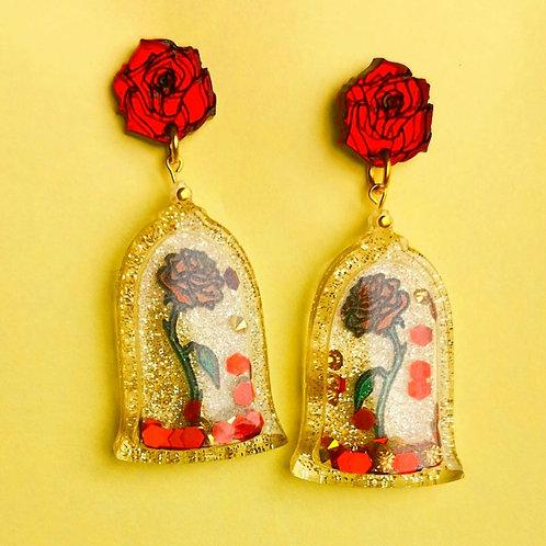 Magic rose shaker earrings