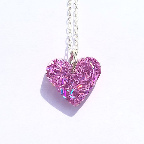 Small Heart Pendant Pink