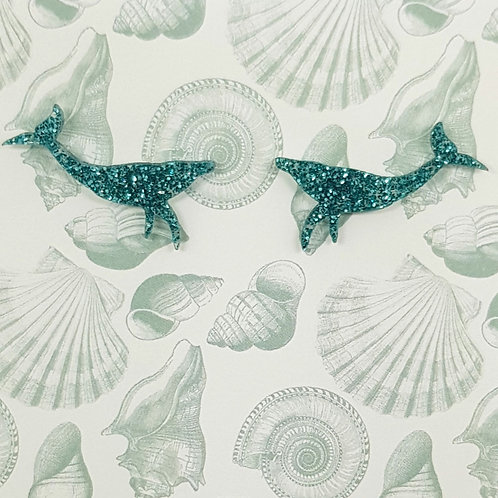 Whale studs