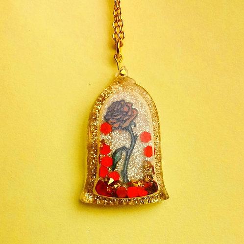 Magic rose shaker pendant