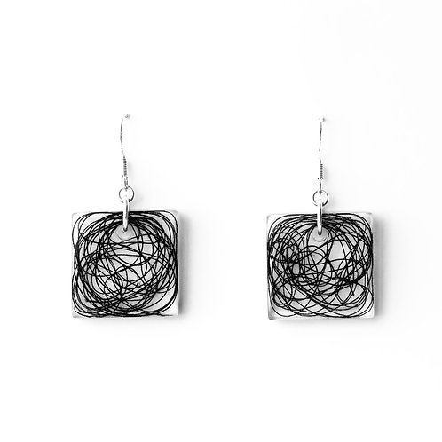 Chaos Square Earrings