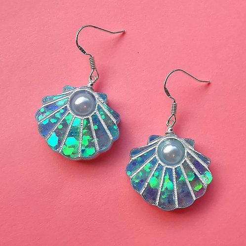 Large shell earrings