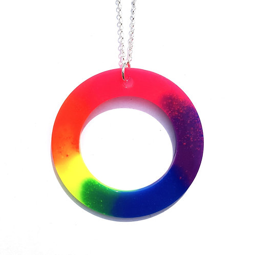 Neon Circle Pendant