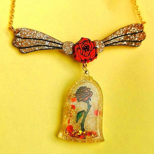 Magic rose shaker necklace