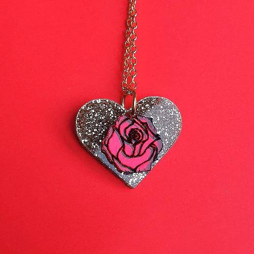 Magic rose pendant
