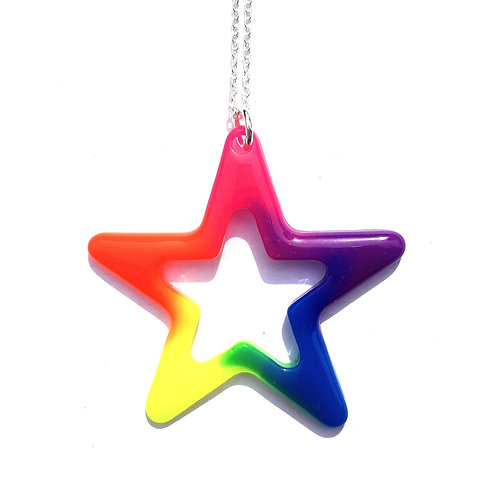 Neon Star Pendant