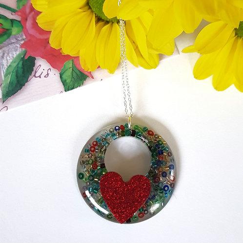Heart Beaded Pendant
