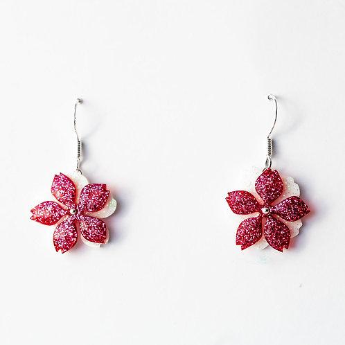 Short Flower Earrings