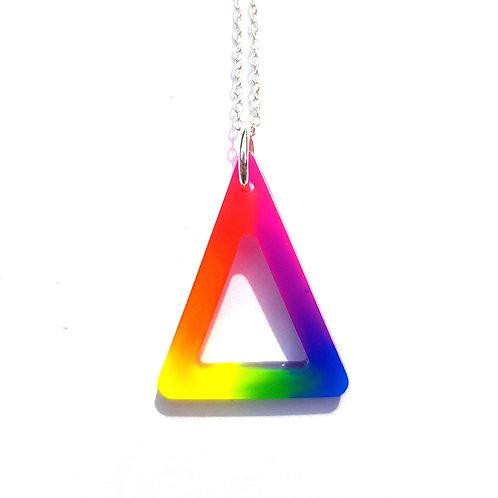 Neon Triangle Pendant