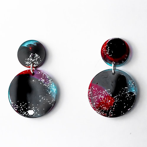 Intergalactic Double Drop Studs