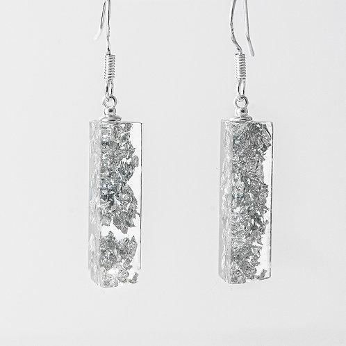 Silver Crushed Mini Earrings