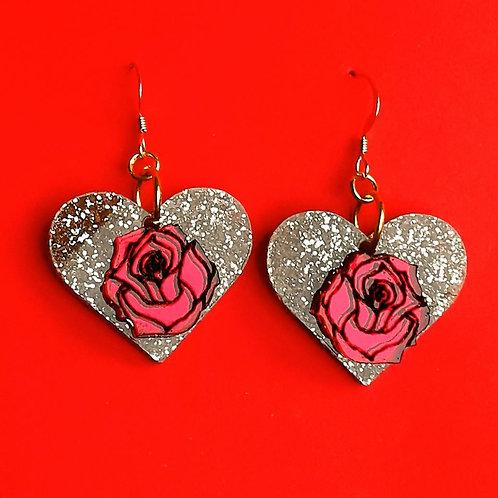 Magic rose earrings
