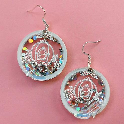 Cinderella statement earrings