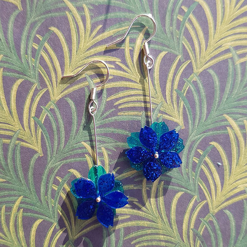 Long Moving Flower Earrings