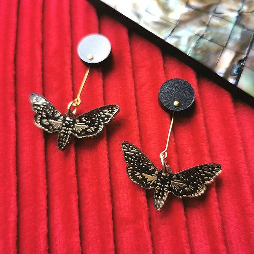 Death's Head Moth earrings