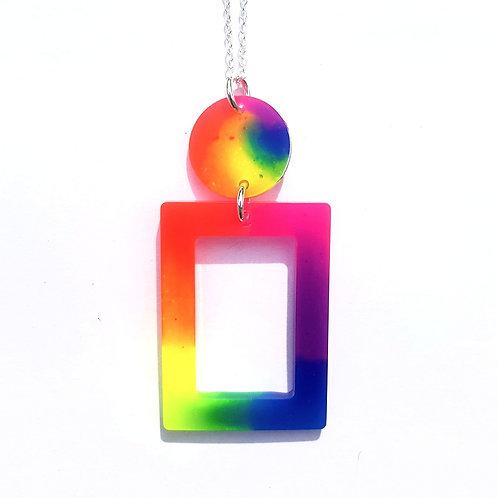 Neon Rectangle Pendant