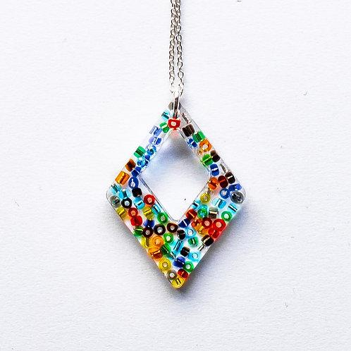 Diamond Beaded Pendant
