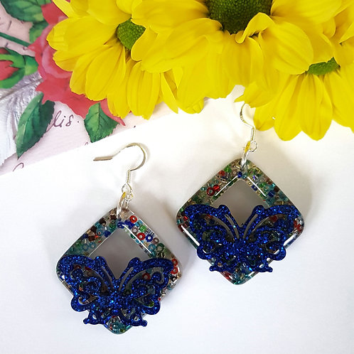 Butterfly Beaded Earrings