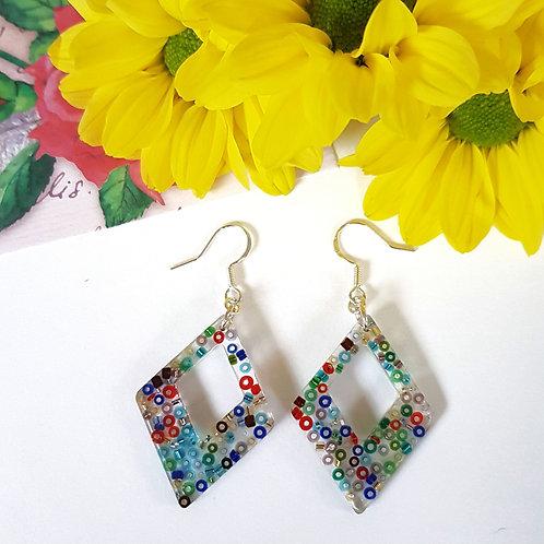 Diamond Beaded Earrings