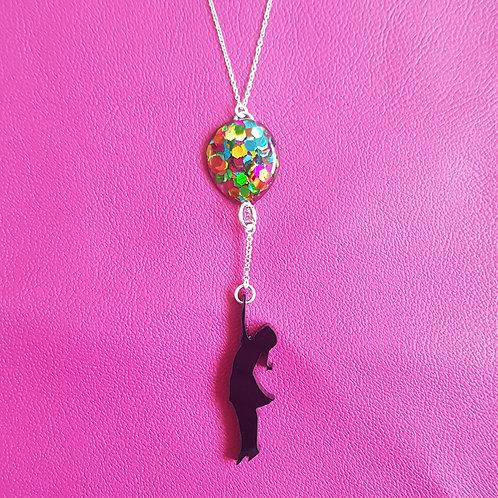 Balloon girl necklace