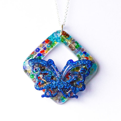 Butterfly Beaded Pendant