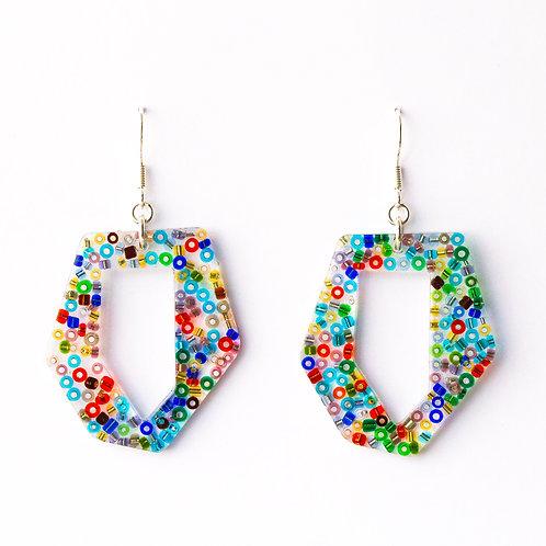 Geometric Beaded Earrings