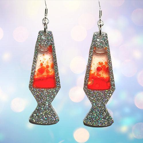 Lava lamp earrings