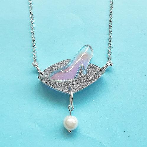 Glass slipper statement pendant