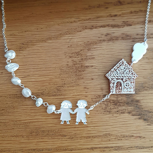 Hansel and Gretel inspired necklace