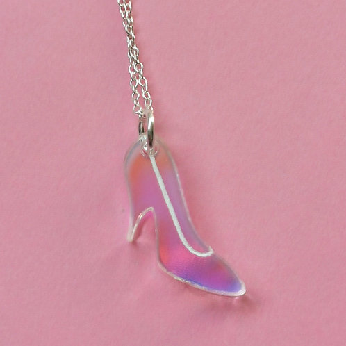 Glass slipper pendant