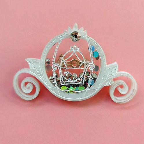 Cinderella carriage brooch