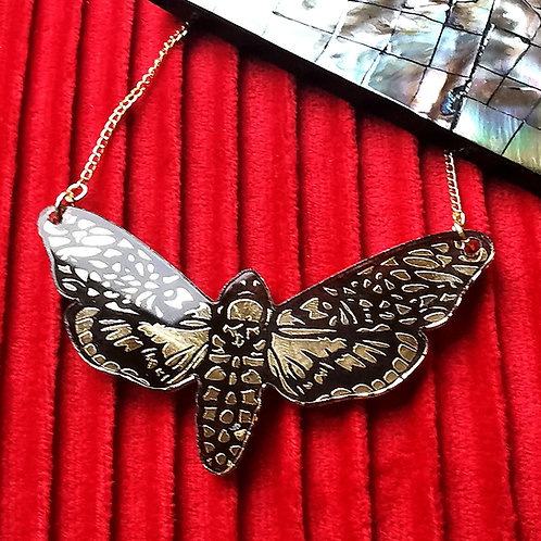 Death's Head Moth Large Necklace