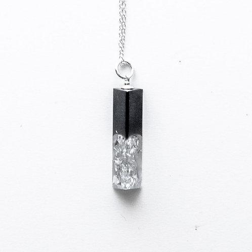 Silver/Black Crushed Mini Pendant