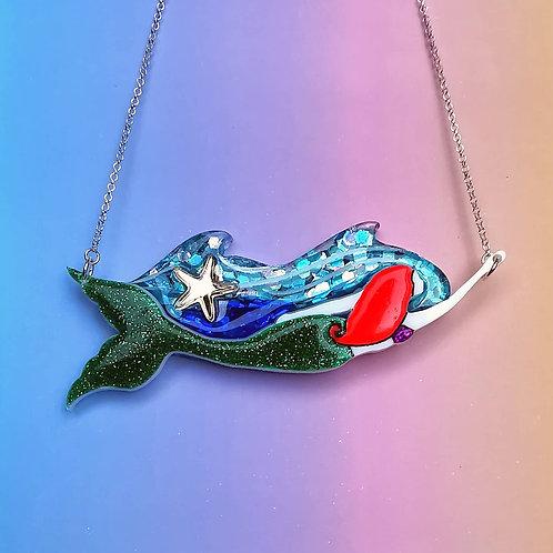 Mermaid statement necklace