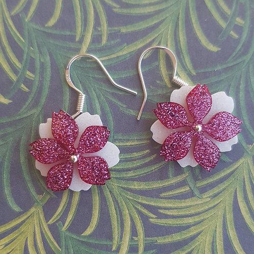Small Moving Flower Earrings