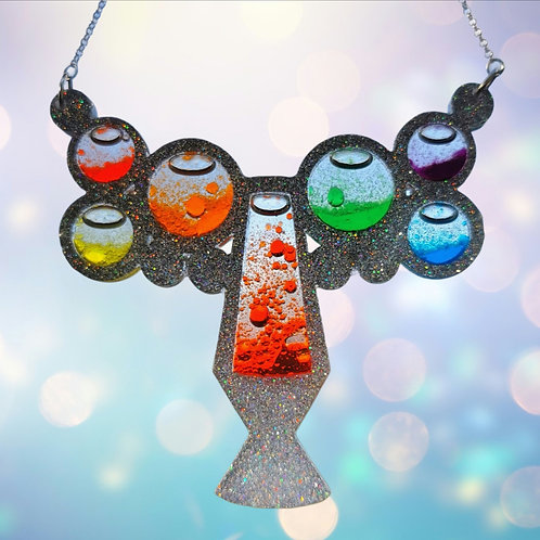 Lava lamp necklace