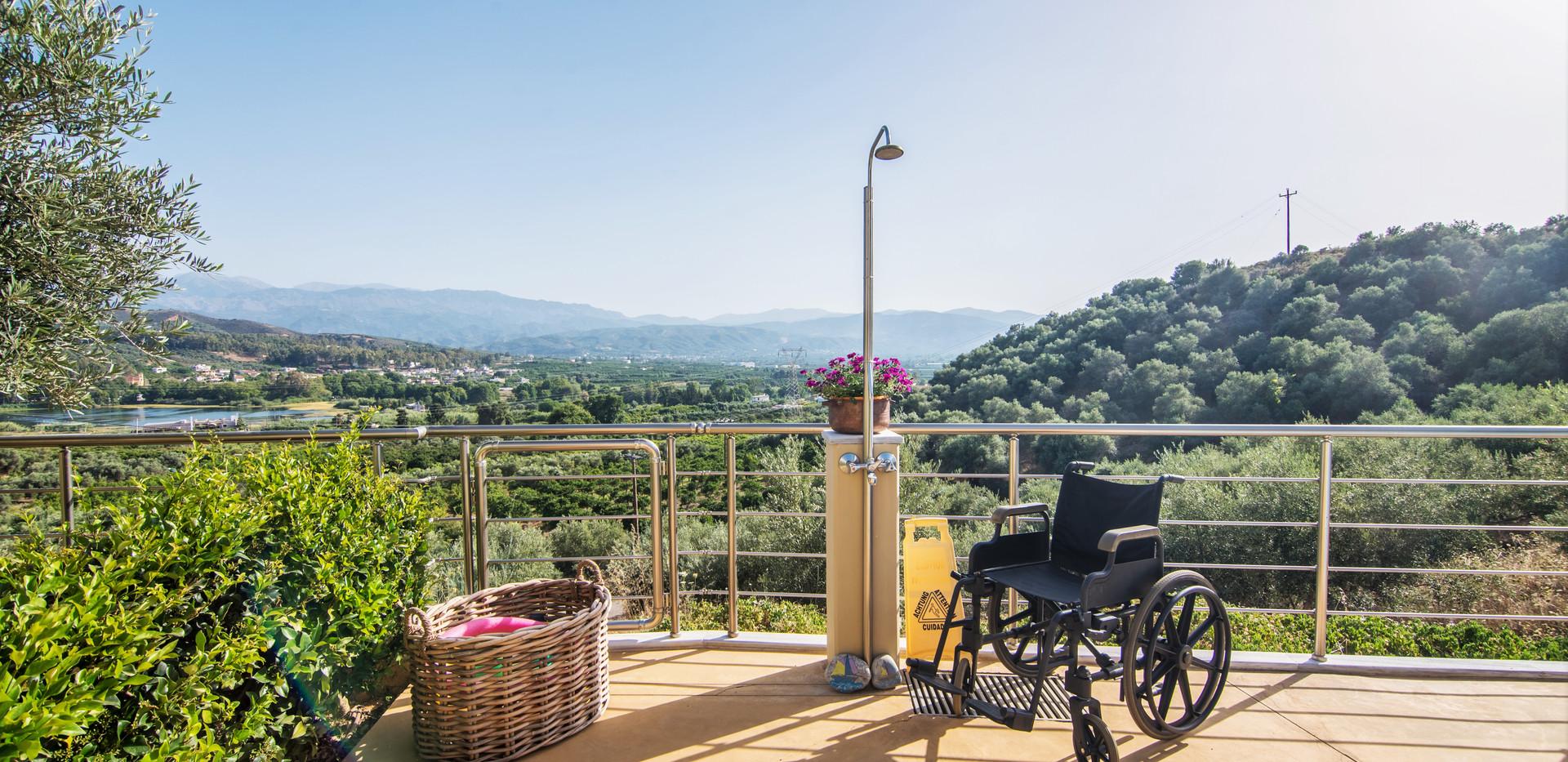 Blick von der Terrasse der Unterkunft