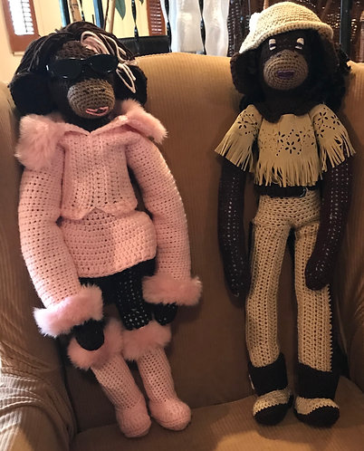 """Knitted-Monkeys by J.W. Designs """"With These Hands"""""""