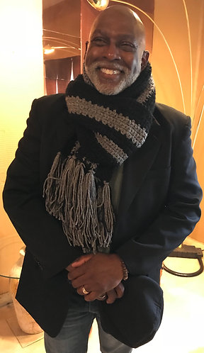 "XL Hand-Knitted Scarf by J.W. Designs ""With These Hands"""