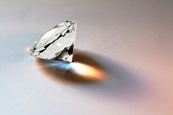 Faceted diamond gemstone with brilliant