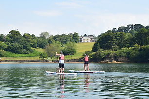 Falmouth River Watersports Trelissick House paddleboard National Trust