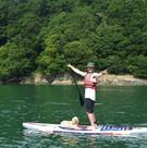 Falmouth River Watersports dog paddleboarding cockerpoo