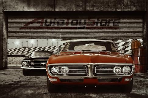Oldtimer Pontiac Firebird Convertible