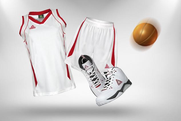 Peak Basketball Set weiss-rot