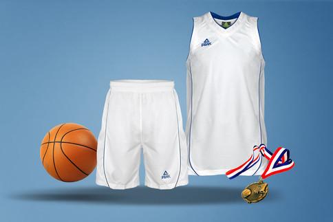 Peak Basketball Set weiss-blau