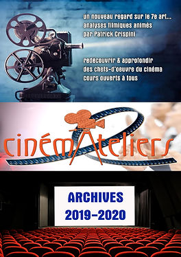 CINEMATELIERS ARCHIVES 2019-2020  cover.