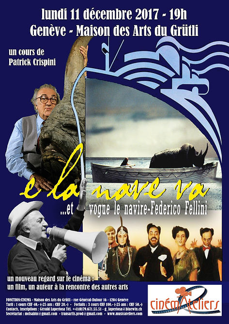 CINEMATELIERS GE 2017-2018 1-Fellini-E l